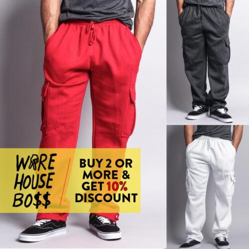 Dr Mens Plain Sweatpants 5 Pocket Cargo Pants Heavyweight Fleece Jogger Hip Hop