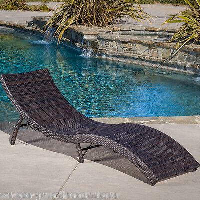 Outdoor Patio Furniture Single Folding Multibrown PE ...