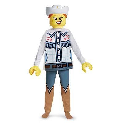Kids LEGO Cowgirl Deluxe Halloween Costume (Kids Cowgirl Halloween Costumes)