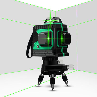 Green Laser Level Self-leveling 360 Vertical Cross Line Measure 12 Lines 3d