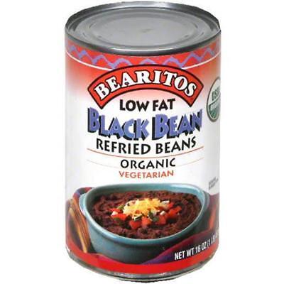 Bearitos-Low Fat Refried Black Beans (12-16 oz cans)
