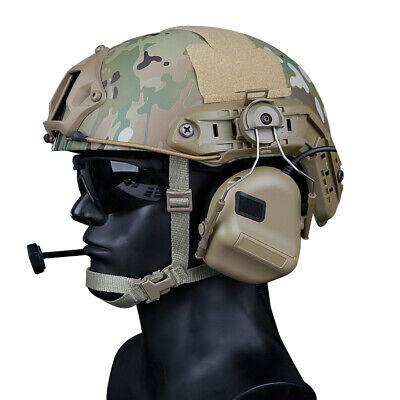 Tactical Earphone - Tactical Helmet Headset with Rail Adapter Peltor Comtac Headphone for shooting