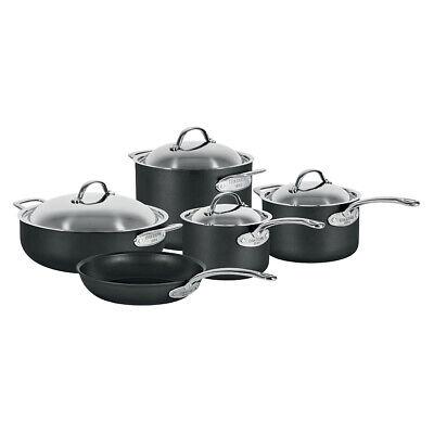 Chasseur Cinq Etoiles 5pc Hard Anodised Saucepan/Frypan/Stock Pot/Chef Pan Set