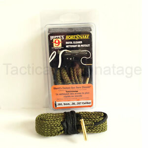 how to clean a pistol with a bore snake