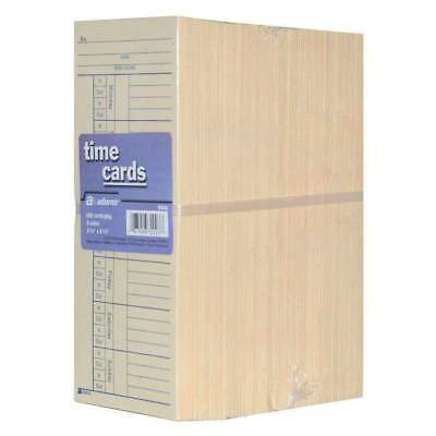 Adams 2-sided - 500 Count Time Cards Employee Punch Payroll Amano Clock