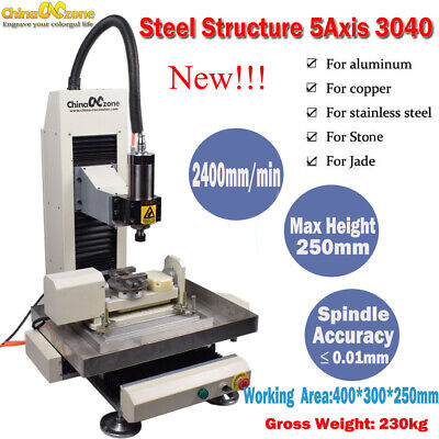 Steel 5axis 2.2kw Cnc 3040 Steel Metal Router Engraving Millingcutting Machine