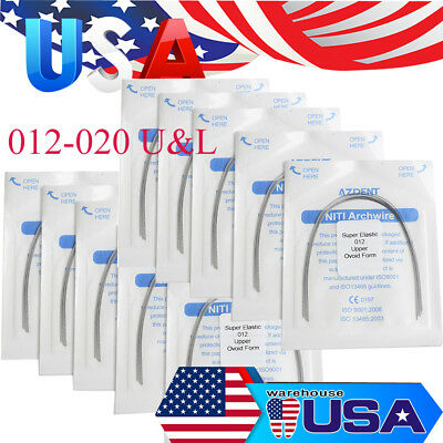 1 Bag Dental Orthodontic Super Elastic Niti Round Arch Wires All Type Ovoid Form