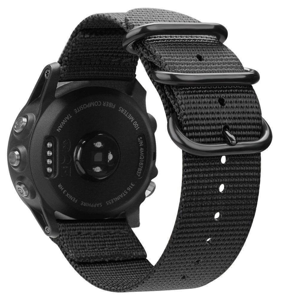 For Garmin Fenix 3 / 3 HR / 5X Watch 26mm Nylon Woven Band S