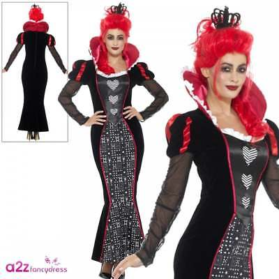 Ladies Queen of Hearts Playing Card Size 16 18 Wonderland Costume Fancy Dress