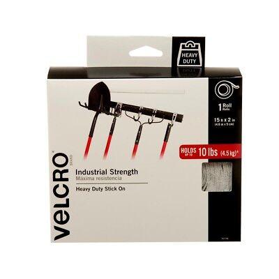 LOT OF 4 VELCRO Brand Industrial Strength Tape 15ft x 2in Heavy Duty Hook Loop 2in Loop Tape