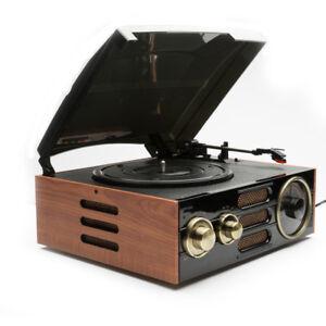 GPO Empire Retro Vintage Style 3 Speed Turntable Vinyl Record Player AM/FM Radio