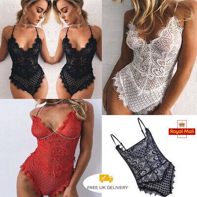 New Women Sexy Nightgown Crotch Bodysuit Lace Lingerie Dress Sleepwear Underwear