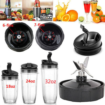 For 900W 1000W Nutri Ninja Blender Auto-iQ Part Juicer 18/24/32oz Cup Lids Blade ()