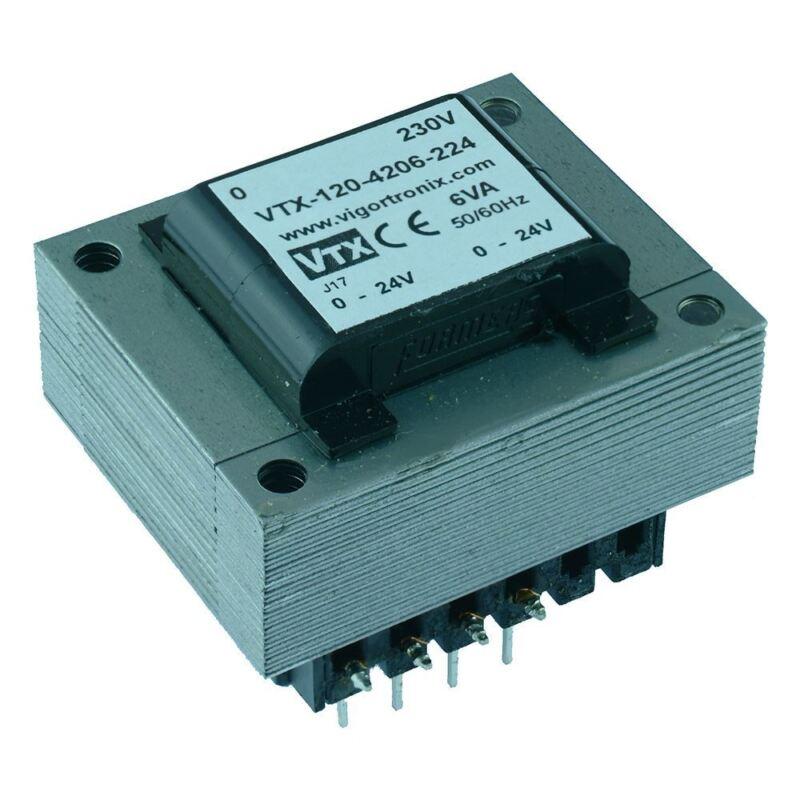 VTX-120-4206-2045 PCB Transformer 230V 6VA 4.5V+4.5v Vigortronix