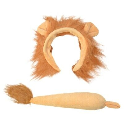 Children's Lion Ears & Tail Set - Fancy Dress Animal Child Costume Book Week - Lion Tail Costume Accessory