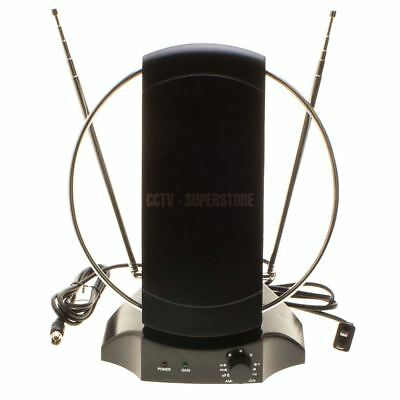 50 Miles Indoor TV Antenna Signal Amplifier Booster for Digital TV 1080P HDTV