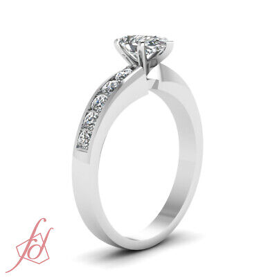 3/4 Ct Pear Shaped VS2-D Color Diamond Womens Gold Engagement Ring GIA Certified 2