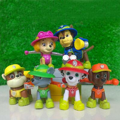 6 PCS Paw Patrol Jungle Rescue Action Figures Cute PVC Dog  Decoration Kids Toys