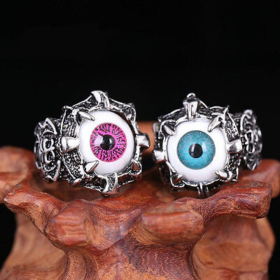 Classic Vintage Evil Eye Finger Ring Eyeball Punk Goth Jewellery Halloween Gift (Eyeball Ring)