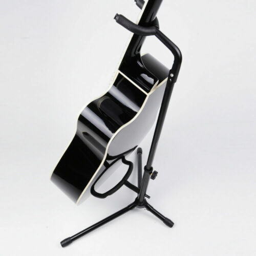 New Tubular Acoustic/Electric Bass Guitar Stand Holder Black US Send
