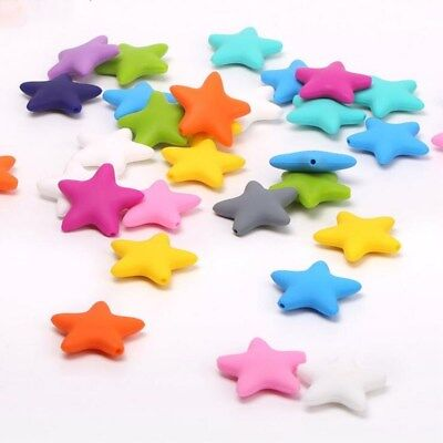 2pcs Safety star shape beads Molar Stick Silicone Teethers DIY Baby Molar toy