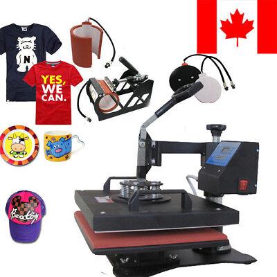 Hot 5in1 Heat Press Machine Digital Transfer Sublimation T-shirt Mug Hat Printer