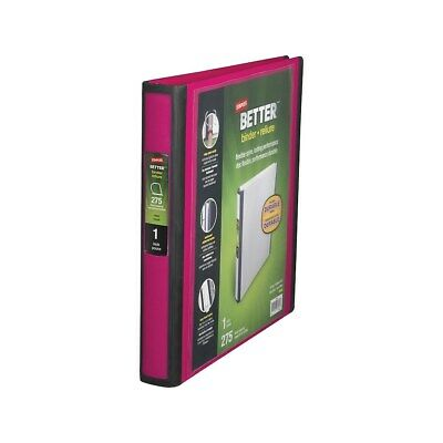 Staples Better View 1-Inch D 3-Ring Binder Pink  651744