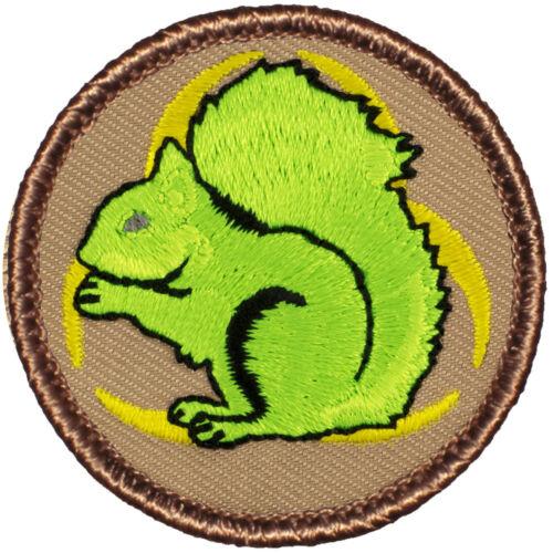 Fun Boy Scout Patches - Neon Biohazard Squirrel Patrol! (#542)