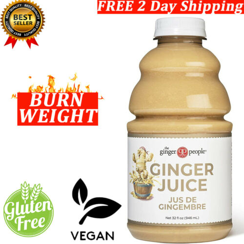 Ginger Juice 99.7% Pure Ginger Juice 32oz Non-GMO Vegan FREE 2 Day Shipping