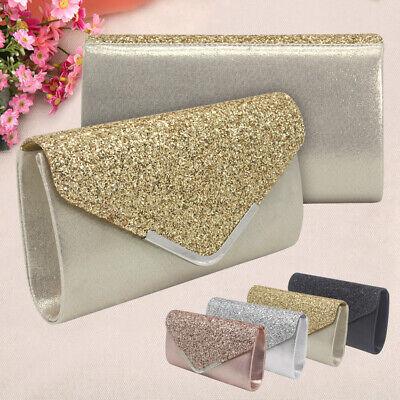 Sparkly Sequin Party Evening Clutch Shoulder Bag Women Wedding New Purse Handbag