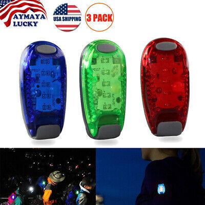5 LED Clip On Running Bike Rear Safety Warning Tail Light Flashing Cycling -