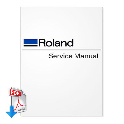 Roland Soljet Pro 4 Xr-640 Service Manual For Wide Format Printers--pdf File