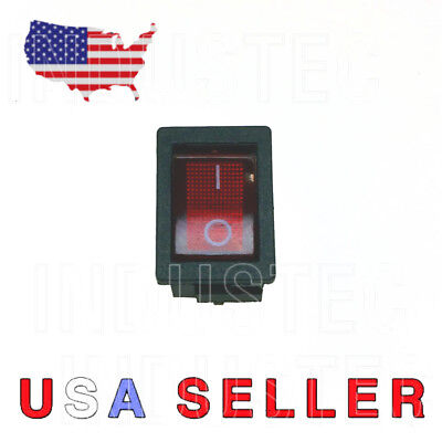 1 Dpst Small Red Rocker Switch On-off 6a250v 10a125v Kcd1-201bba 204 Mini