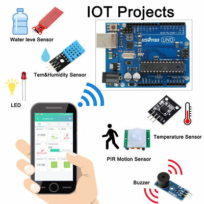 Us Arduino Iot Starter Kit Internet Of Things Android Ios Remote Control Uno R3