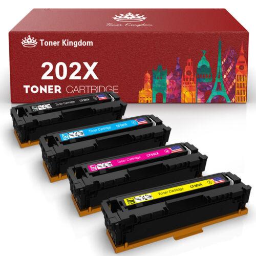 4PK CF500X 202X Toner Cartridge for HP Color LaserJet Pro M254dw M281cdw M281fdw