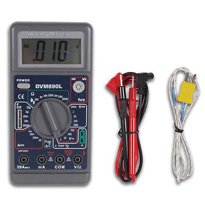 Velleman Dvm890l Digital Multimeter With Temperaturecapacitance Measurement Cap