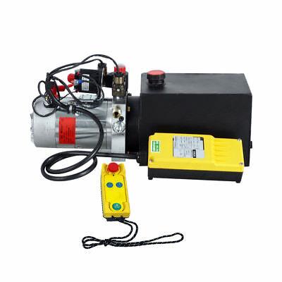 6 Quart Double Acting Hydraulic Pump 12v Dump Trailer Wireless Remote Control