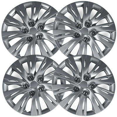 4pc Hub Caps Fits 12-14 Toyota Camry 16 Inch Wheel Cover Rim Silver Skin