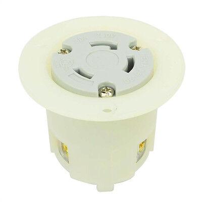 Twist Lock Flange Receptacle 3 Wire 30 Amps 250v Nema L6-30r 2pk - Ygf039f-2pk