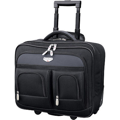 Travelers Club Luggage 17\ 2 Section Rolling Laptop Wheeled Business Case NEW