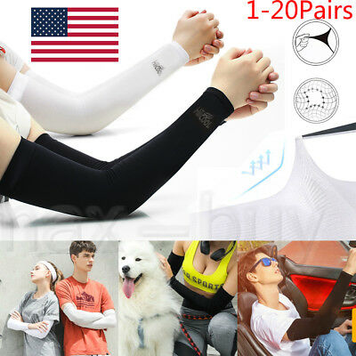 Cooling Arm Sleeves Cover UV Sun Protection Golf Bike Basketball Outdoor Sports