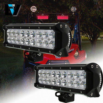 2X10INCH 108W CREE LED WORK LIGHT BAR FLOOD LAMP SPOT BEAM OFFROAD UTE TRUCK 4WD