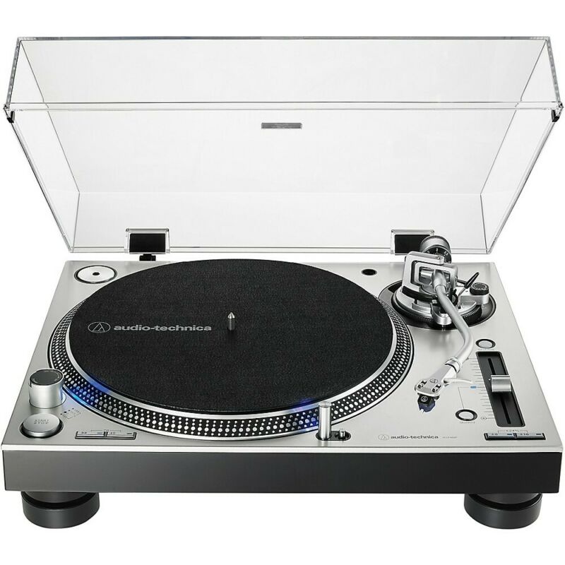 Audio-Technica AT-LP140XP Direct-Drive Professional DJ Turntable Silver