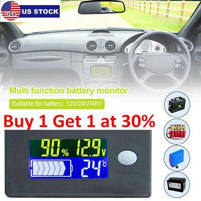 Durable 122448v Battery Capacity Status Lcd Digital Indicator Monitor Meter Us