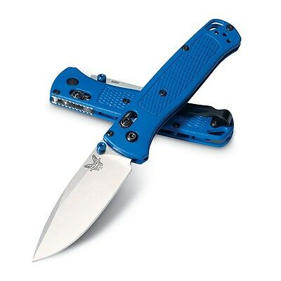 "Benchmade 535 Bugout Blue 3.24"" S30V Satin Plain blade, Blue Handle"