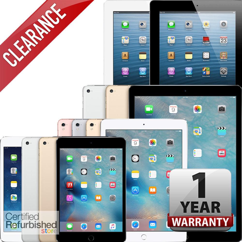 Apple iPad | Air,mini,2,3,4,Pro | WiFi Tablet | 1-Year Warranty | Grade A Units