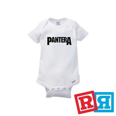 Pantera Baby Onesie Dimebag Metal Bodysuit Unisex Gerber Organic Cotton