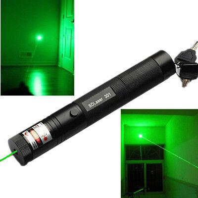 Military 5mw 532nm 301 Burning Green Laser Pointer Pen Lazer Flashlight Visible