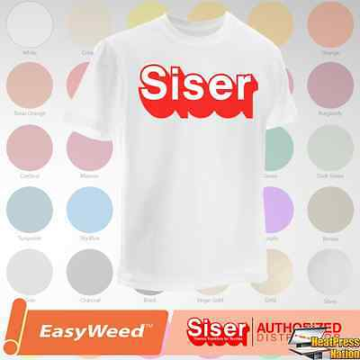 "Siser Easyweed HTV T-Shirt Vinyl 15"" x 12"", 5 Yards - 59 COLORS"