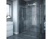 Brand new sliding shower doors and shower tray 900 x 1200 from Victorian Plumbing. Unused, boxed